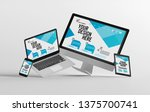mock up view of a devices...   Shutterstock . vector #1375700741