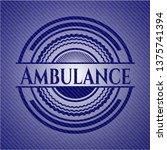ambulance with denim texture   Shutterstock .eps vector #1375741394