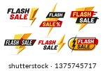 flash sale. mega sales...   Shutterstock .eps vector #1375745717