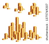 gold coins stack. fmoney coins... | Shutterstock .eps vector #1375769207