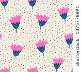 hand painted seamless pattern...   Shutterstock .eps vector #1375778891
