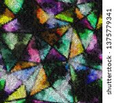 seamless pattern. imitation of...   Shutterstock .eps vector #1375779341
