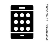 mobile pattern lock glyph icon