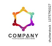 people connect vector logo... | Shutterstock .eps vector #1375790327