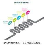 road infographic. information... | Shutterstock .eps vector #1375802201