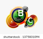 colorful glossy circles... | Shutterstock .eps vector #1375831094