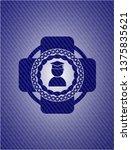 graduation icon inside emblem...   Shutterstock .eps vector #1375835621