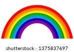 rainbow on white background...   Shutterstock .eps vector #1375837697