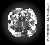 umbrella icon on grey camo...   Shutterstock .eps vector #1375860134