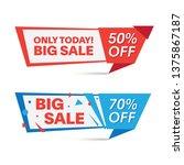 sale sticker  banner  discount | Shutterstock .eps vector #1375867187