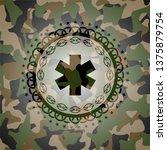 emergency cross icon on...   Shutterstock .eps vector #1375879754