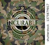 incurable on camo texture   Shutterstock .eps vector #1375879817