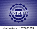 aniseed emblem with jean...   Shutterstock .eps vector #1375879874