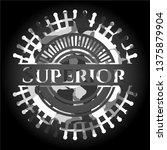 superior grey camouflaged emblem   Shutterstock .eps vector #1375879904