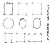 hand drawn frames. set 2.... | Shutterstock .eps vector #137589179