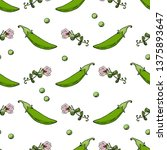 seamless pattern with green... | Shutterstock .eps vector #1375893647
