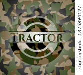 tractor on camouflaged texture   Shutterstock .eps vector #1375894127