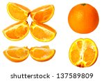 isolated orange collection... | Shutterstock . vector #137589809