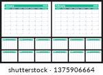 2020 calendar. english planner. ... | Shutterstock .eps vector #1375906664
