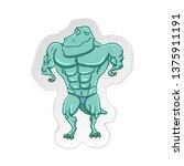 cartoon t rex dinosaur... | Shutterstock .eps vector #1375911191