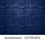 Vector Blue Circuit Board...
