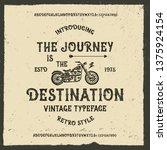 vintage modern handcrafted font.... | Shutterstock .eps vector #1375924154