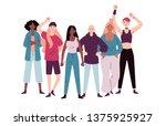 group of demonstrators female...   Shutterstock .eps vector #1375925927