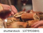 romanian pie with virsli | Shutterstock . vector #1375933841