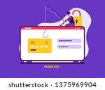 concept of hacker attack  fraud ... | Shutterstock .eps vector #1375969904