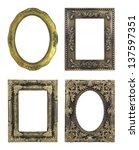 4 picture frame on white... | Shutterstock . vector #137597351