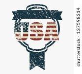illustration patriot united... | Shutterstock .eps vector #137598314