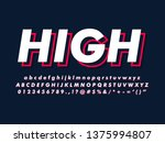 simple minimalist font with... | Shutterstock .eps vector #1375994807