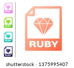 coral ruby file document icon.... | Shutterstock .eps vector #1375995407