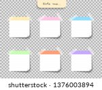 set of different color note... | Shutterstock .eps vector #1376003894