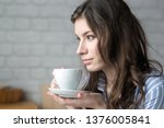 beautiful young blond woman in... | Shutterstock . vector #1376005841