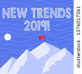 text sign showing new trends... | Shutterstock . vector #1376017361