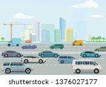expressway in a big city | Shutterstock .eps vector #1376027177