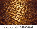 old cobblestone pavement after... | Shutterstock . vector #137604467