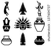 southwest native american... | Shutterstock .eps vector #137604737