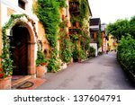 Flower Lined Street In The...