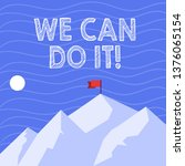 text sign showing we can do it. ... | Shutterstock . vector #1376065154