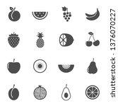 fresh summer fruits vector...
