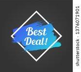 best deal promo lettering. best ... | Shutterstock .eps vector #1376071901