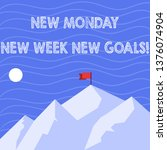 text sign showing new monday... | Shutterstock . vector #1376074904