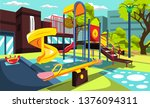 playground at school park for... | Shutterstock .eps vector #1376094311