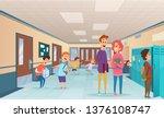 school break. trouble pupils...   Shutterstock .eps vector #1376108747