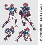 football players vector | Shutterstock .eps vector #1376141237