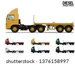 isolated empty diesel semi...   Shutterstock .eps vector #1376158997