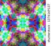 abstract kaleidoscope background | Shutterstock . vector #1376169137
