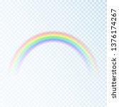 color rainbow. spectrum of... | Shutterstock .eps vector #1376174267